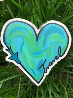 Traveler's Heart Sticker