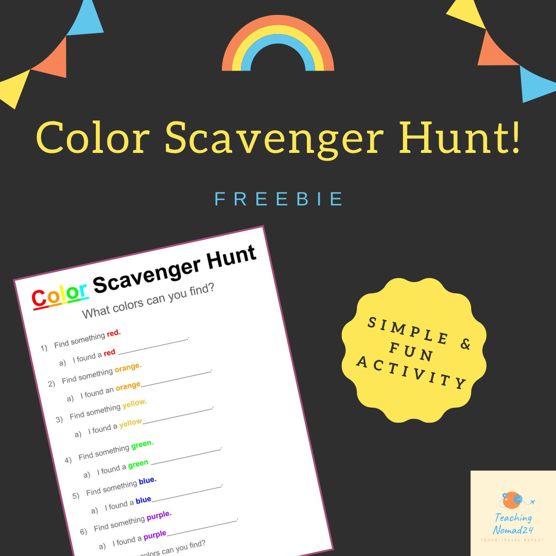 FREE Color Scavenger Hunt