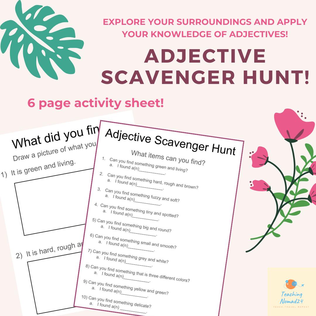 Adjective Scavenger Hunt