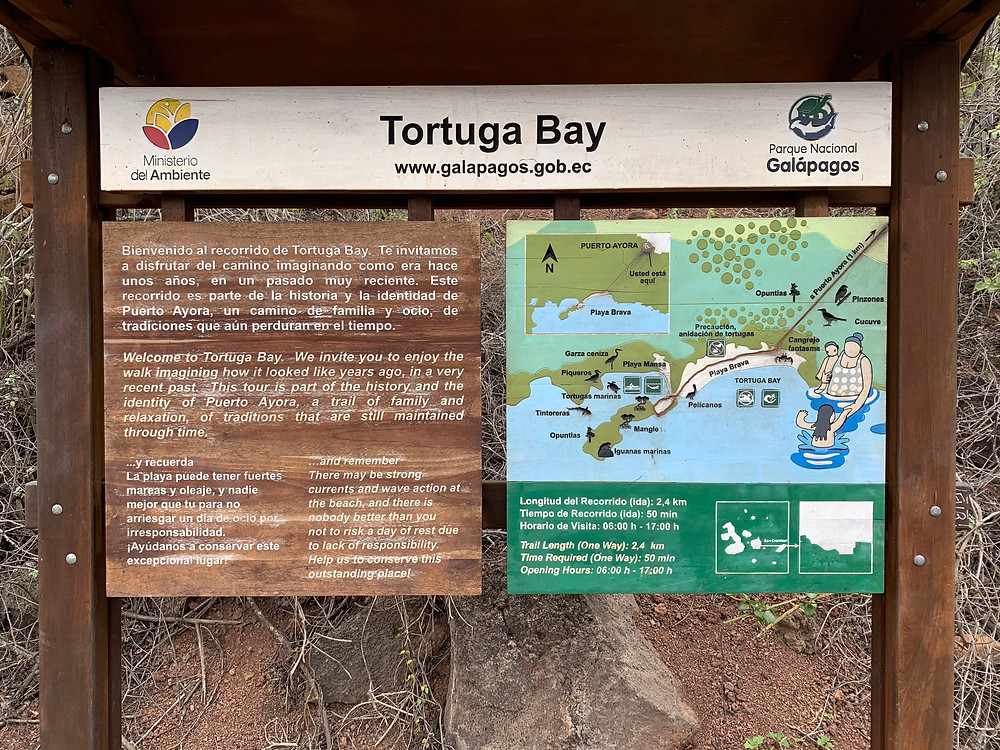 Offical Map/Sign of Tortuga Bay.