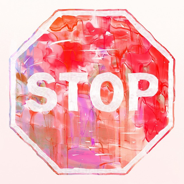 Watercolor Stop Sign
