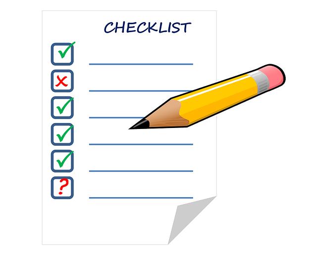 Pencil and checklist.