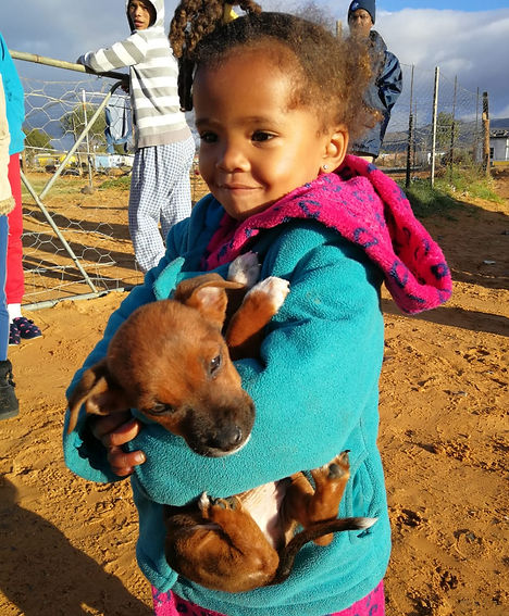 Touwsriver Beautiful - puppy and girl.jp