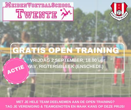Actie: gratis deelname Open Training Enschede