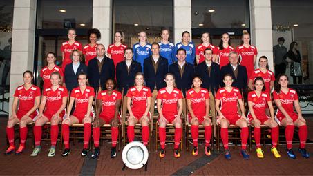 Speelsters FC Twente aanwezig bij 1e training Voorjaarsmodule