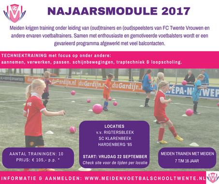 Najaarsmodule 2017 van start in september
