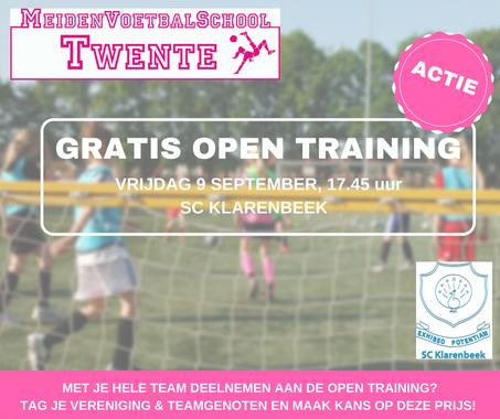 Actie: gratis deelname Open Training Hardenberg