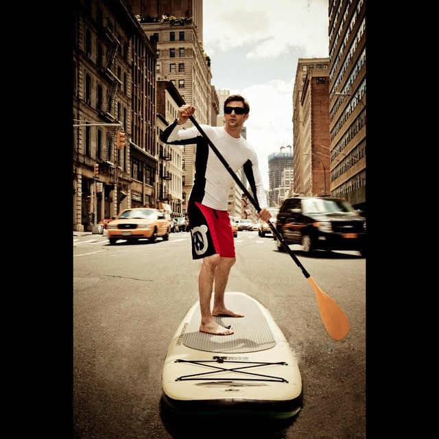 Facebook - #Tbt to the time I went paddle boarding in NYC @surfpanda