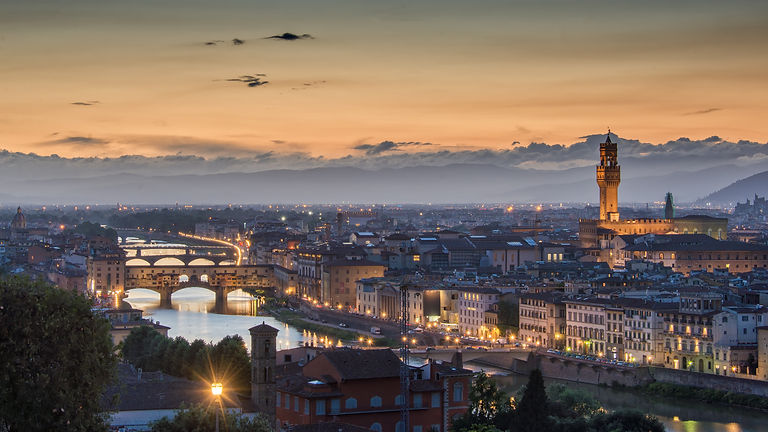 Sunset over Florence - Italy