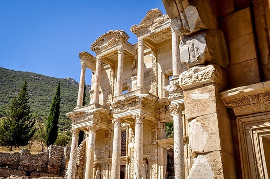 Turkey-Ephesus-library-of-Celsus-A luxury cruise on Ulysses' footsteps