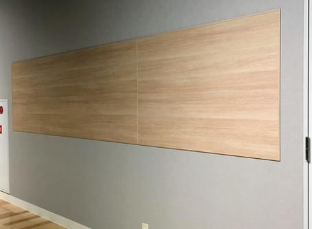 <施工事例>  マグネット吸着ボード「アイパネル」材料販売 及び 施工まで承っております。