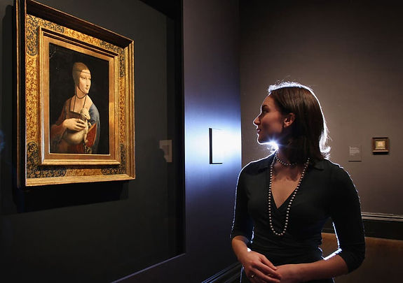 See Leonardo da Vinci's masterpieces like the Lady with an Ermine and many secret artwork never shown to the public like his Codex