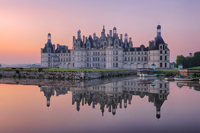 Sunset over the Chateau de Chambord - France
