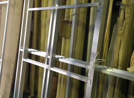 <製作事例>  アルミ 看板用フレーム 溶接枠   オリジナル製作