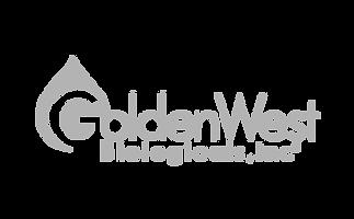 Golden West Biologicals Logo Grey on Transparent Background