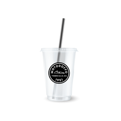 MotoDoffo 12OZ Clear Coffee Cup Branding