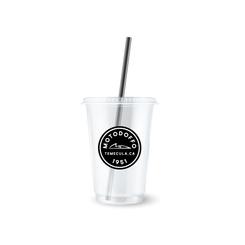 MotoDoffo 12OZ Clear Coffee Cup Branding