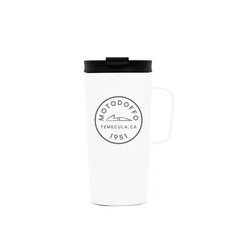 MotoDoffo Insulated Tall White Camp Mug