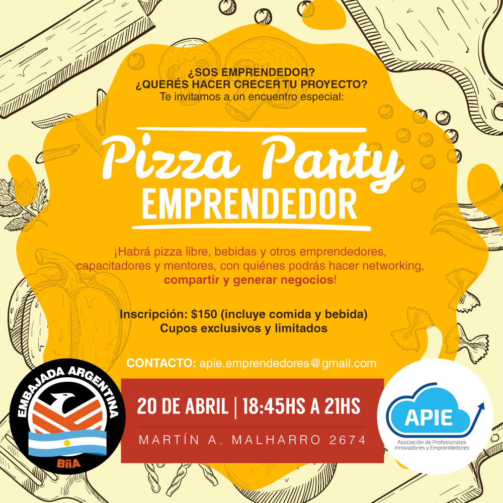 Pizza Party Emprendedor