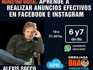 Workshop: Marketing Digital: aprendé a realizar anuncios efectivos en Facebook e Instagram