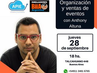 Organización y ventas de eventos.