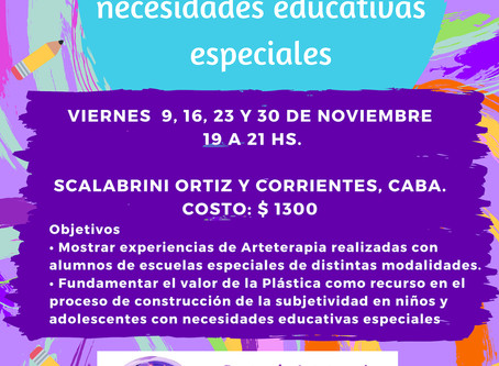 Nuevo seminario: Arteterapia en niños y adolescentes con necesidades educativas especiales