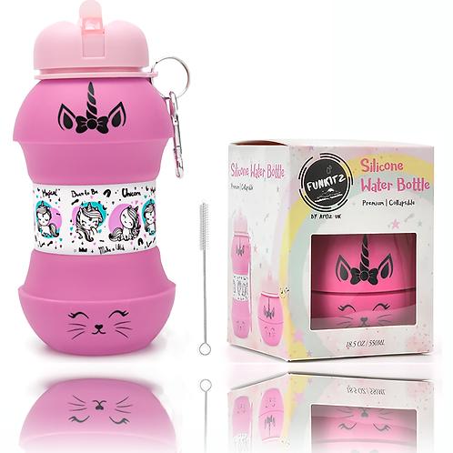 Unicorn/ Kittycorn Collapsible Water Bottle