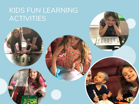 5 Fun Learning Activities for Kids to do while in isolation (with Free Game Template)