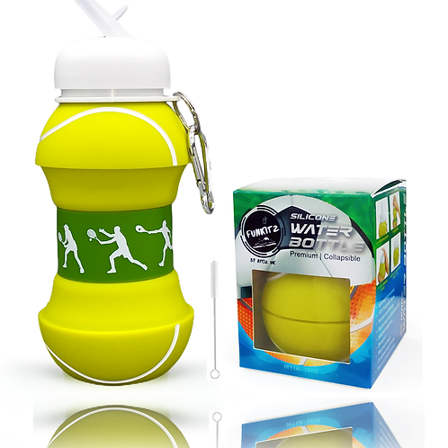 Collapsible Tennis Shaped Water Bottle