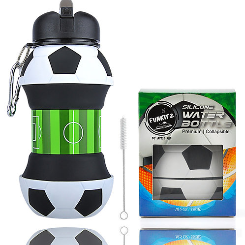 Collapsible Football Shaped Water Bottle