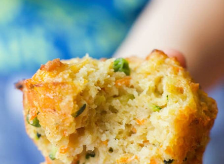 See no veggies, speak no veggies, eat all the veggies Cornbread!