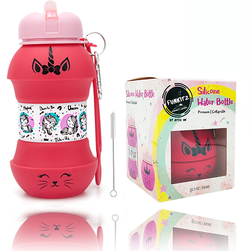 Unicorn/ Kittycorn Collapsible Water Bottle