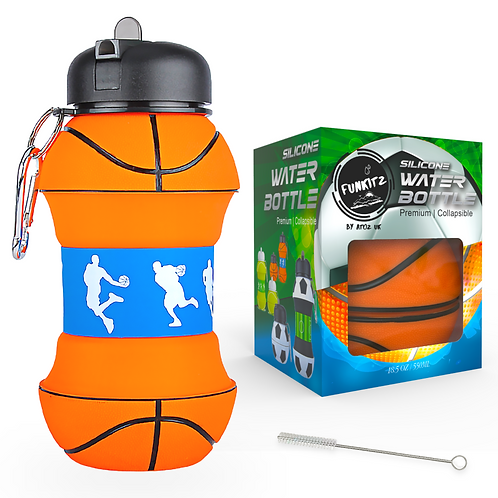 Collapsible Basketball Shaped Water Bottle