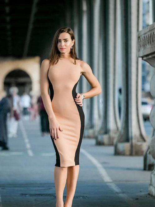 Two-Tone Bodycon Dress