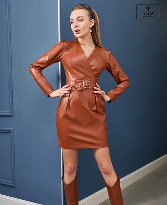 Eco-Leather Mini Dress