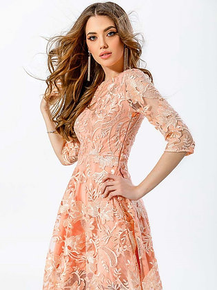 Evening Embroidered Dress