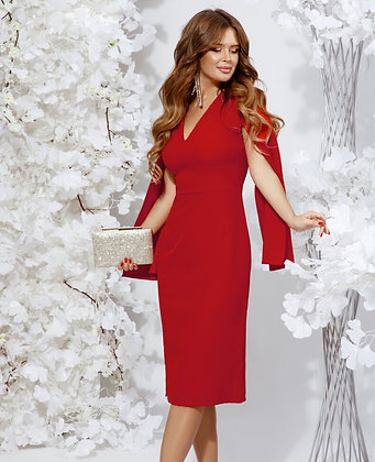 Red Dress With Spectacular Sleeves
