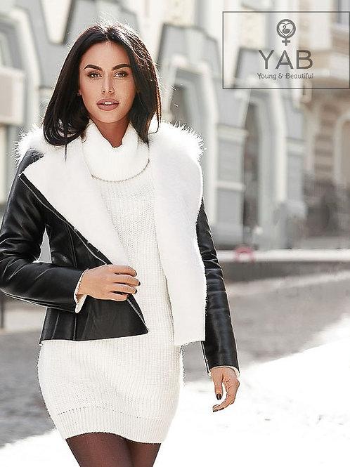 Black Premium Eco-Leather Aviator Jacket