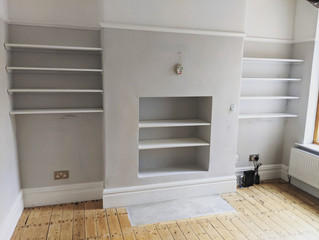 Simple alcove shelving