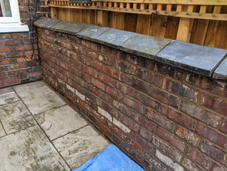 Wall repointing work