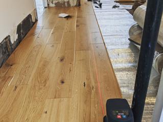 Laser lines for flooring
