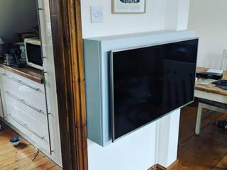 Bespoke wall mounted TV cupboard