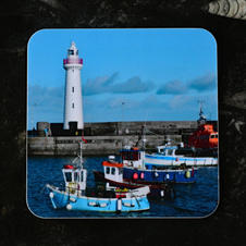 Donaghadee Lighthouse and Boats Coaster