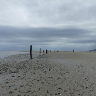 WWII anti aircraft beach defences