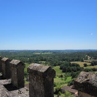 Chateau de Biron roof view