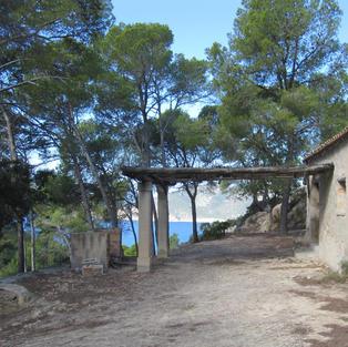 Majorcan hillside abandoned cottage