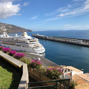Cruise ship in Funchal