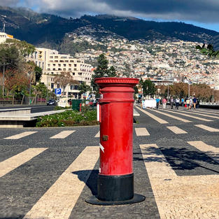 Postbox in Funchal_