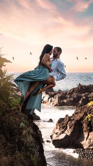 levitation engagement photography
