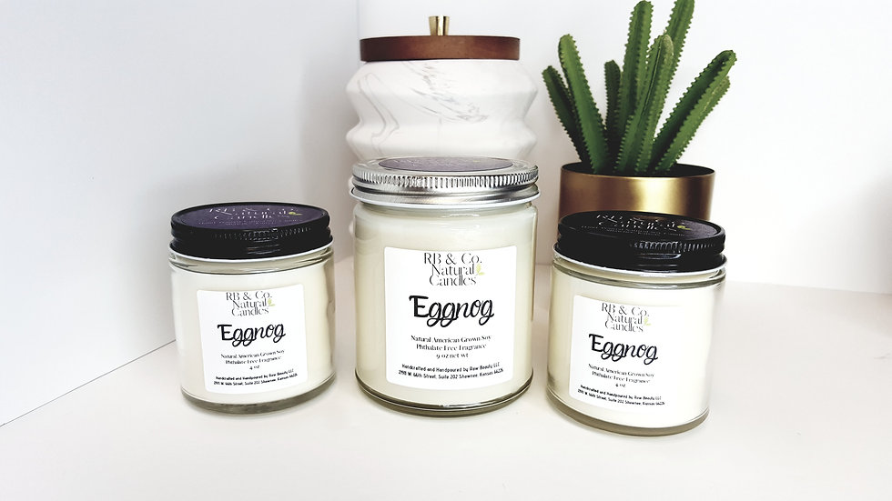 Eggnog   Natural Soy Candle   Hand-Poured and Hand-Crafted